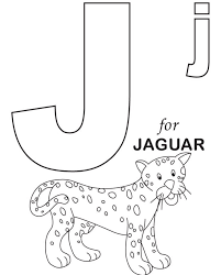 alphabet j coloring pages words for j alphabet coloring page