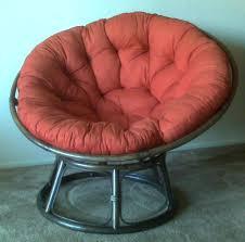Papasan Chair Cushion Outdoor Furniture Comfortable Rattan Papasan Chair With Blue Cushion On