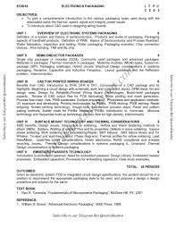 ec 6010 electronics packaging syllabus semester vii ece be anna
