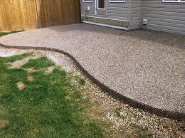 Exposed Aggregate Patio Stones Edmonton Concrete Patio U2013 Next Level Concrete Ltd