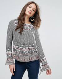 moda boho vero moda boho print blouse stylish tv characters to be for