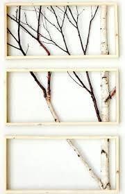 mit birkenstamm wandbilder gestalten diy pinterest