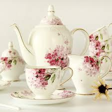 tea set 15 pcs ceramic bone china afternoon tea set flower coffee cup and