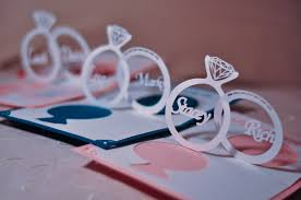 Make Wedding Invitations Wedding Invitation Linked Rings Pop Up Card Template Creative