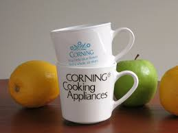 vintage corningware advertising mugs corning cooking appliances
