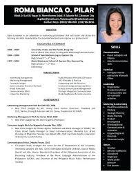 good resume exles 2017 philippines independence sle of resume format resume format sles sle resume and