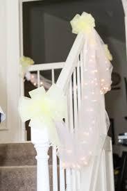 home wedding decorations stairs mom u0027s backyard wedding