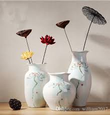Blue Vases Cheap High Temperature Handmade Traditional Chinese Craft High Quality