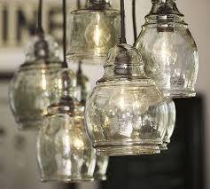 hand blown glass light globes paxton glass 8 light pendant pottery barn