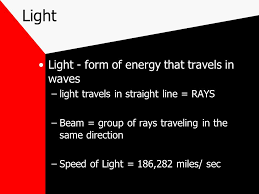 is light a form of energy energy energy travels in waves waves carry energy from one place