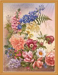 ship flowers free ship flower pattern diamond embroidery diy needlework diamond