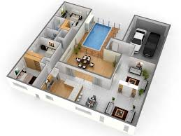 Modern Three Bedroom House Plans - 3 bedroom home design plans low budget modern 3 bedroom house