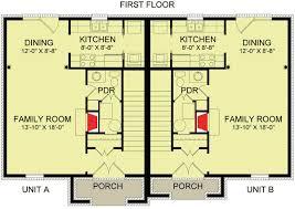 comfy 2 unit townhouse design 83127dc architectural designs