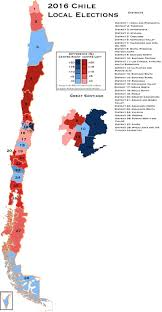 Chile South America Map by 2016 Chile Local Election Results Maps Of South America