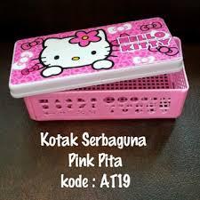 Teh Kotak Ecer teh kotak ecer kotak serbaguna hello murah grosir ecer jumbo pink