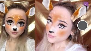 Bambi Halloween Makeup by Deer Snapchat Filter Halloween Makeup Tutorial Youtube