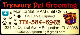treasure pet grooming sebastian florida mobilerving
