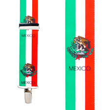 Picture Of Mexican Flag Mexican Flag Suspenders Suspenderstore