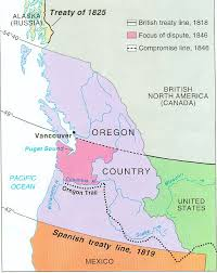 map of oregon country 1846 oregon acquisition