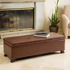 best brown leather storage ottoman products on wanelo