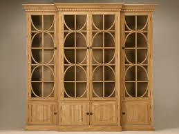 antique oak bookcase with glass doors weathered oak breakfront china cabinet or bookcase with glazed