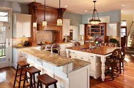 kitchen island with granite top and breakfast bar extraordinary square kitchen island with seating and two level