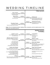 how to create a wedding reception timeline - Wedding Ceremony Timeline