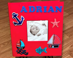 Photo Albums For Babies Baby Photo Album Etsy