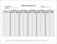 Daycare Sign In Sheet Template Invoice Form Daycare Form Daycare Daycare Forms