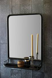 Black Mirror For Bathroom Black Wall Mirror With Shelf Portrait From Rockett St George