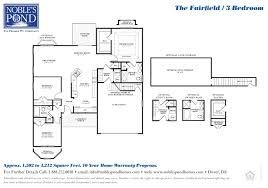 the fairfield 3 bedroom ranch home noble u0027s pond homes