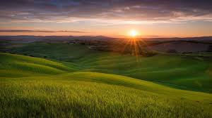 sunrise sunset italy nature field landscape hills sun tuscany