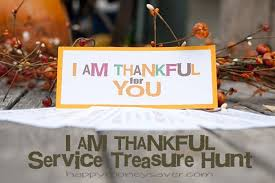 i am thankful service treasure hunt free printables