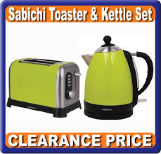 Electric Toaster Price Set Of Kettle And Toaster Breakfast Lime Green Clearance Price