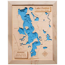 Elevation Map Of Michigan by Wood Ya Shop Handcrafted In Michigan