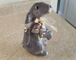 paper mache rabbit paper mache rabbit etsy