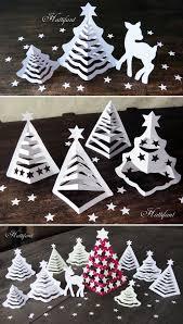 hattifant u0027s 3d paper christmas trees christmas trees pinterest