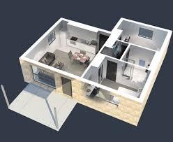 appartement avec 2 chambres 50 plans 3d d appartement avec 2 chambres