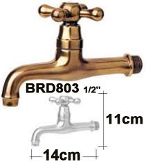 Indoor Faucet To Garden Hose Connector - 2 european made brass casted water faucets for classic gardens