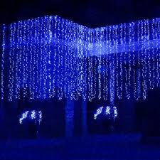 waterfall outdoor 6m x 3m 600 led string curtain light