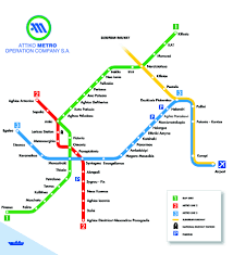 Metro Line Map by Athens Airport To Downtown Athens And The Ferry Port