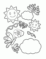 tool in the summer coloring page for kids seasons coloring pages
