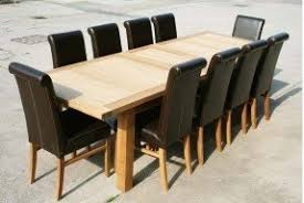 10 Seat Dining Room Table Large Dining Room Tables Seats 10 Foter