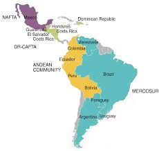 Latin America Countries Map by Latin America Archives And International Intellectual Property