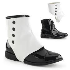 motorcycle shoes mens black white spats mens vintage victorian groomsmen wedding costume