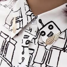 lnrrabc sale 1 pair women fashion angel wings brooch collar pin