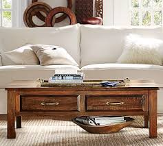 Pottery Barn Connor Coffee Table - designer love wood coffee
