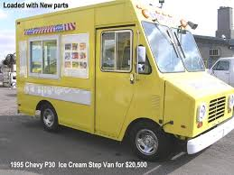 used 1999 utilimaster p30 step van ice cream route truck with v 6