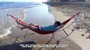 folding beach hammock youtube