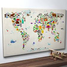 World Map Canvas Picture Of Diagram World Map Canvas Brisbane Best Large
